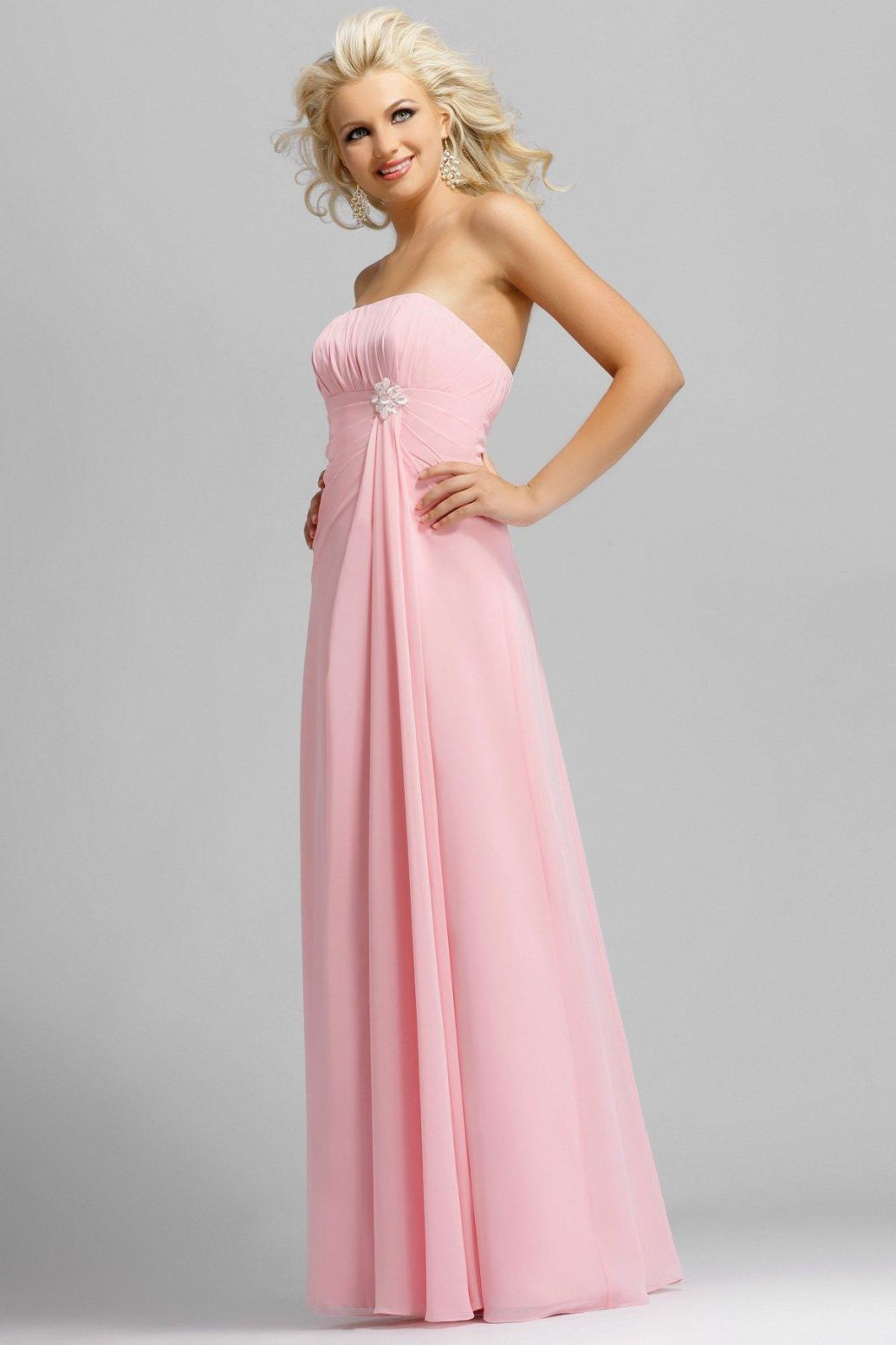 vestidos-rosa-largo-elegante-fiesta | Dresses / Fashion | Pinterest ...