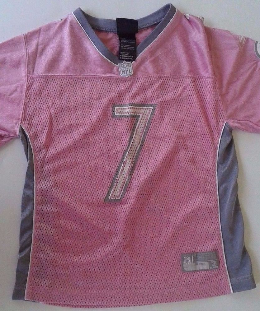 Pittsburgh Steelers Football Girls Roethlisberger Jersey Pink Girls 10-12 #NFLTeamApparel #PittsburghSteelers