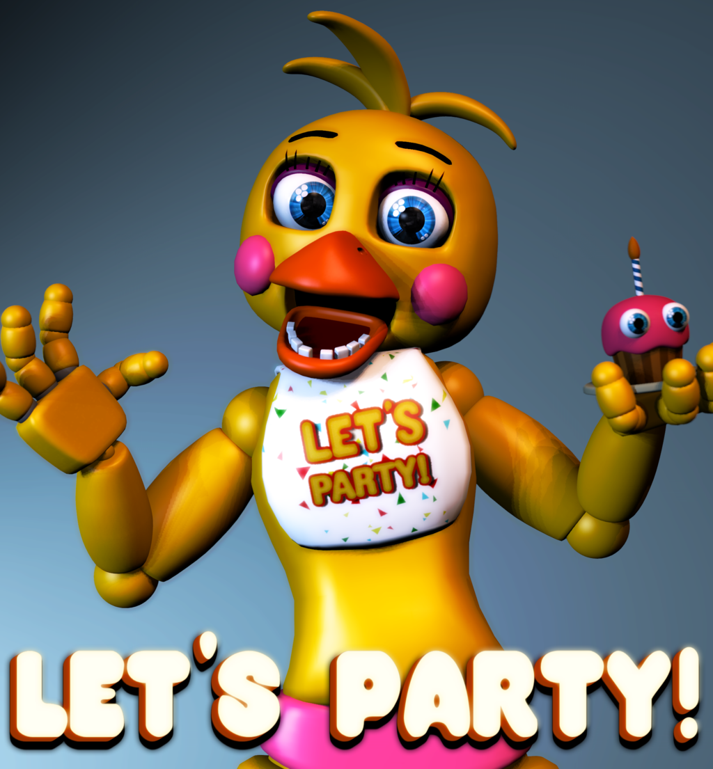 My Puffed Self As Toy Chica: Toy_chica_let_s_party_poster_by_hyruleanrabbit-da40b4o.png