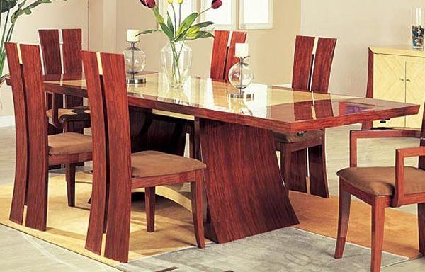Comedor de madera cuadrado Dinning Tables Pinterest Comedores