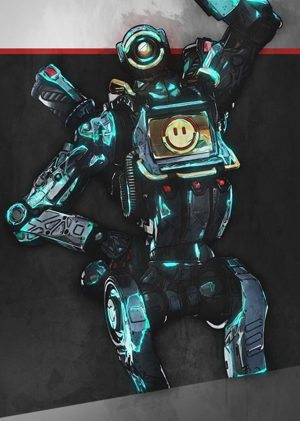 "Apex Legends Glowing Characters Pathfinder #Displate explore Pinterest""> #Displate artwork by artist ""Illustrative Design"".… | Displate thumbnail"