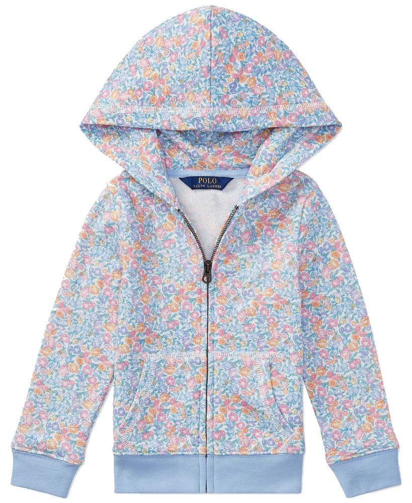 58730aa8 Ralph Lauren Polo Girls Hooded Floral Sweatshirt, Big Girls Size L ...