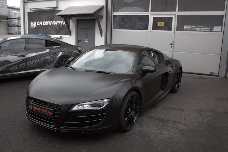 Audi R8 V10 Komplettfolierunng Inkl Einstiege In Satin Schwarz Autofolierung Scheibentonung Fahrzeugfolierung