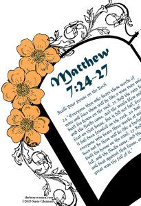 Crumbling Foundation to Solid Rock Mom Matthew 7:24-27 on thebusywoman.com