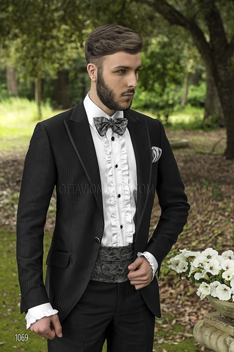 Matrimonio Vintage Uomo : Abito da sposo uomo a righe in acetato viscosa nero mens fashion