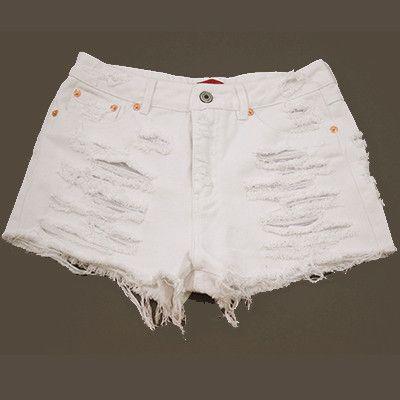 Madison White Destroyed Denim Shorts – A Peek Inside the Closet ...