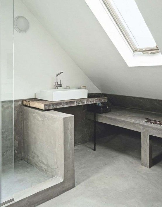 Ba os revestidos con cemento pulido ba os pinterest ba os cuarto de ba o y pula - Revestimiento cemento pulido banos ...