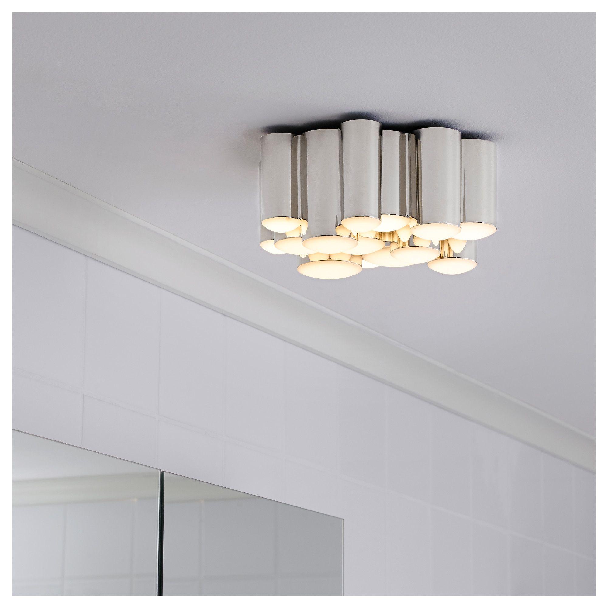 SODERSVIK   LED лампа за таван   IKEA   Bathroom light ...