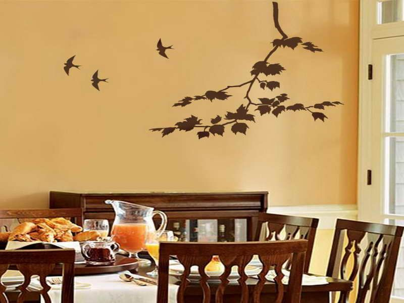 How to & Repairs:How To Paint A Tree On A Wall With The Swallows How ...