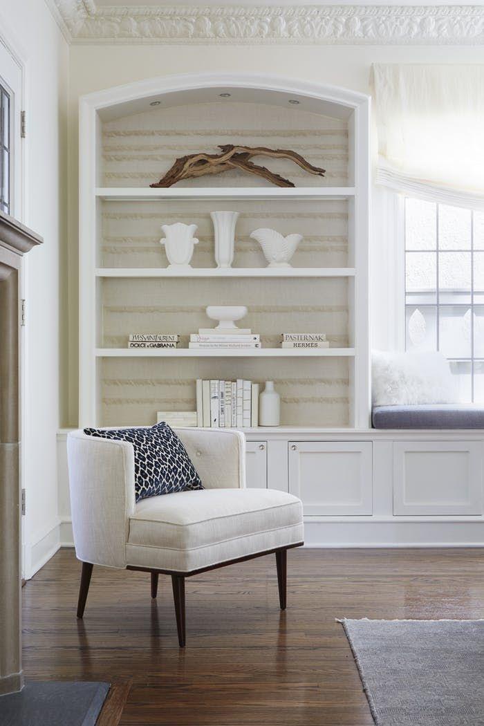 Powder Room By Amy Kartheiser Design: Detail Shot Living Room Bookcase By Amy Kartheiser Design