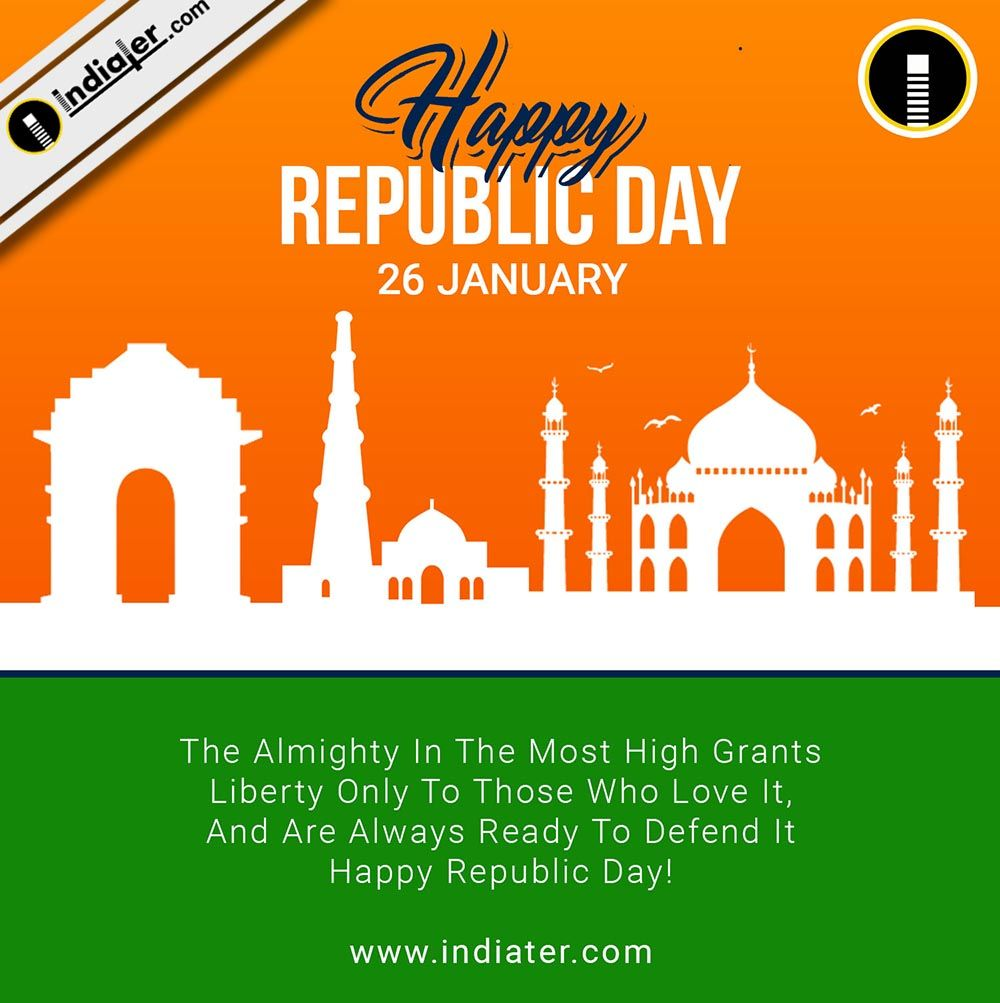 Free Top 10 Best Banners Greetings Background Designs For Happy Republic Day Republic Day Best Banner Background Design Happy republic day quotes 26 january