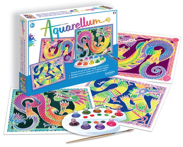 Aquarellum Large Dragons Color Kit Rainbow Colors Dragon