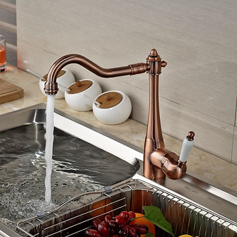 Wholesale And Retail Luxury Solid Brass Copper Kitchen Faucet Swivel ...