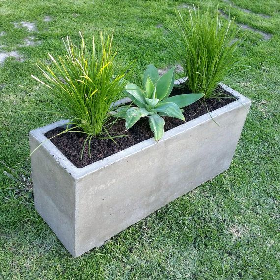 Vertical Garden Polished Concrete Planter Large Rectangular Garden Patio Or Outdoor Planter Box Ideias De Jardinagem Plantas Em Recipientes Plantadores De Madeira