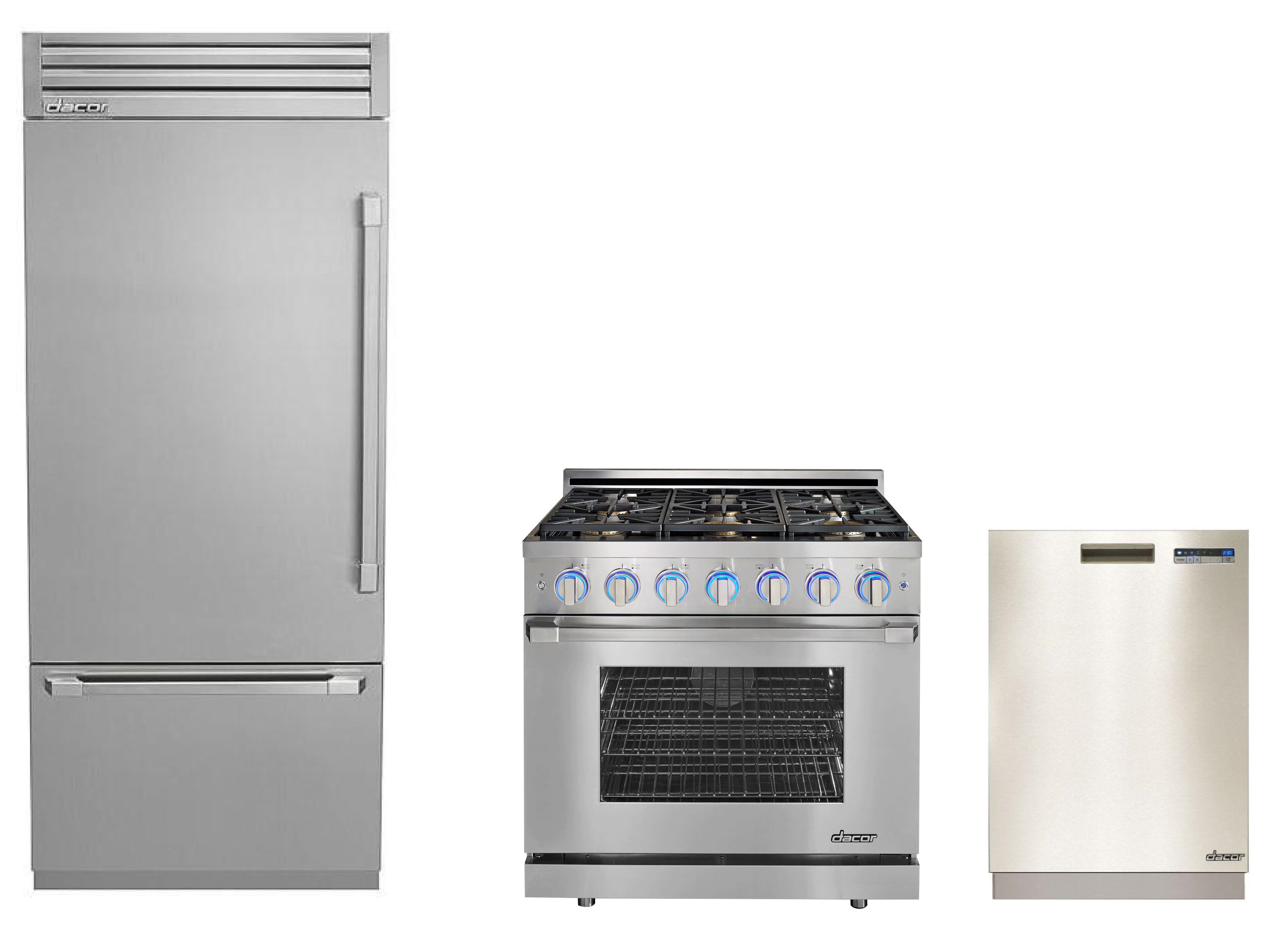 Dacor 3 Piece Kitchen Appliances Package in Stainless Steel Please ...