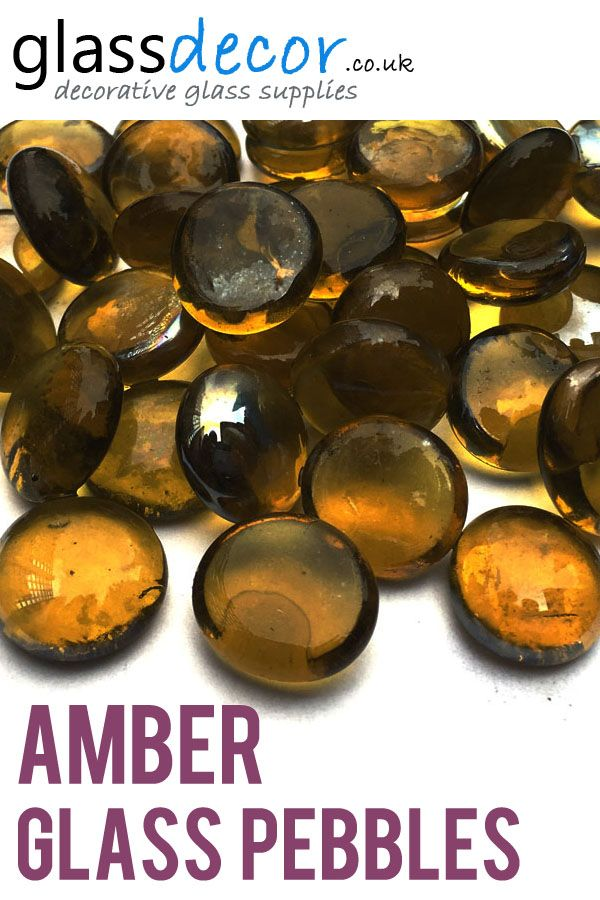 Amber Round Glass Pebbles Glass Pebbles And Stones For Decoration