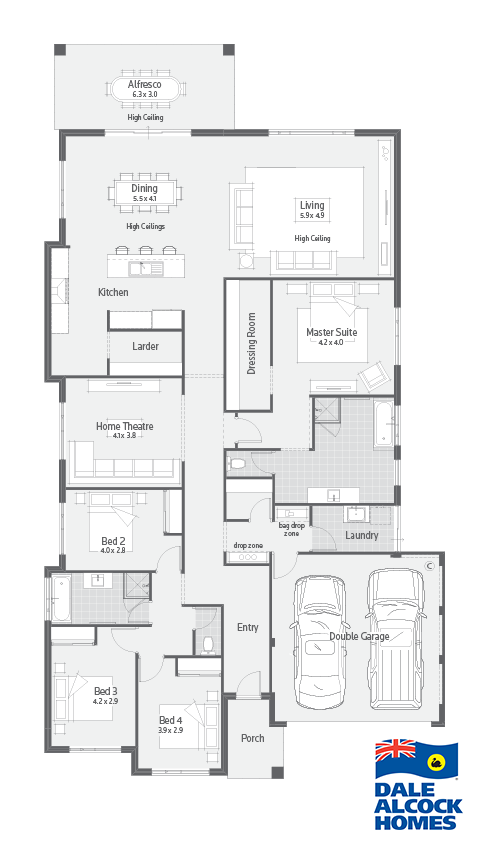 New Home Designs Perth Nelson I Dale Alcock Homes House Plans Home Design Floor Plans Dream House Plans
