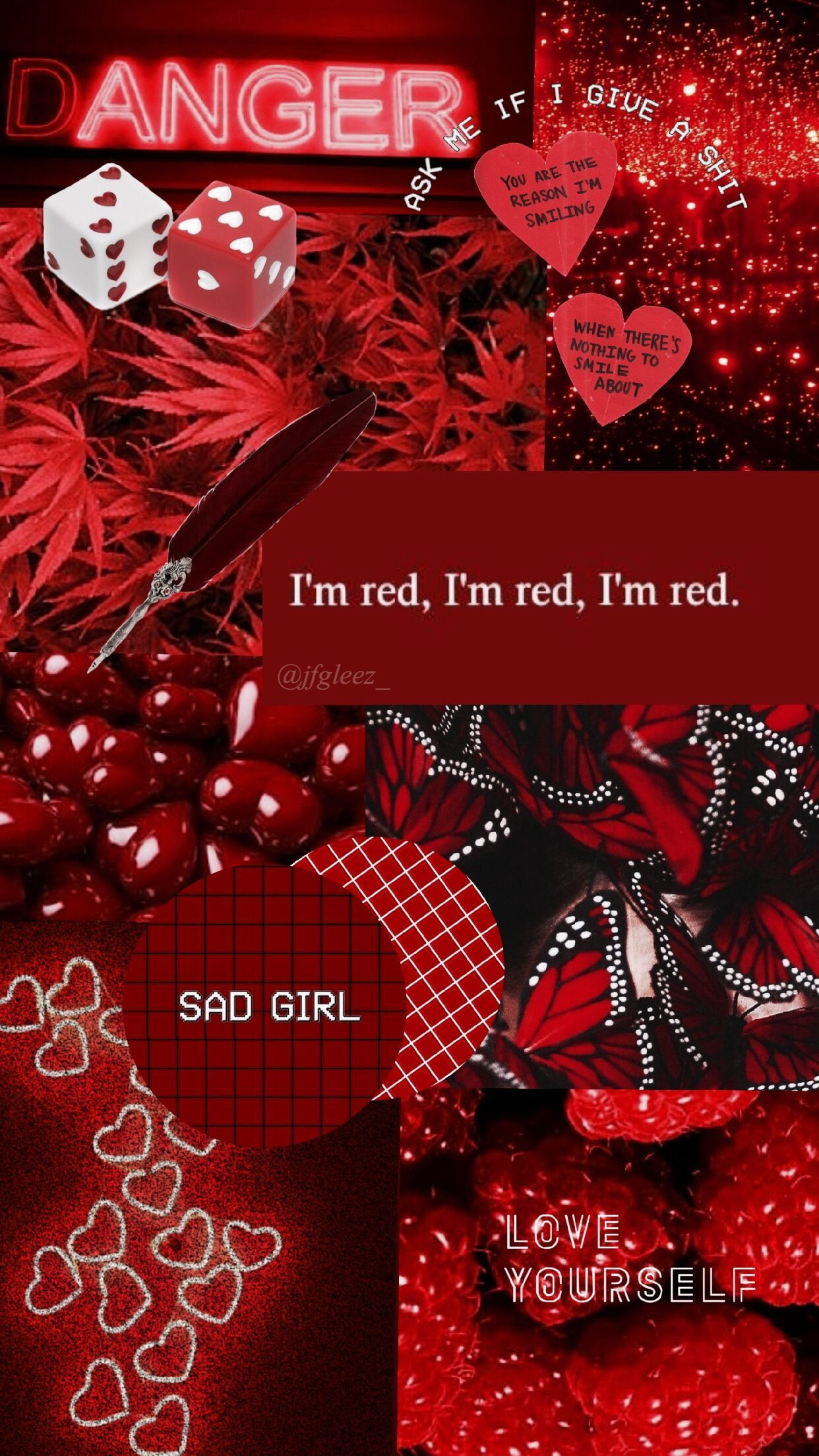 wallpaper red aesthetic jfgleez_ redaesthetic Red