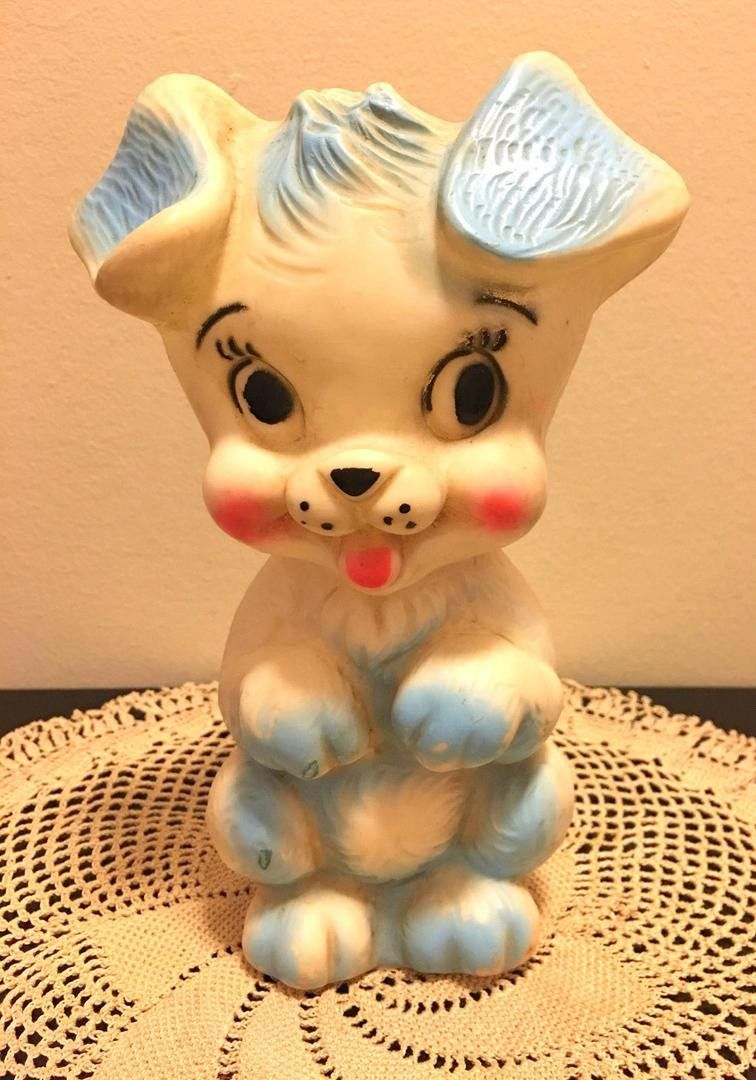 35 Vintage Rubber Squeak Squeaky Toy Puppy Dog Beg By Star Mfg