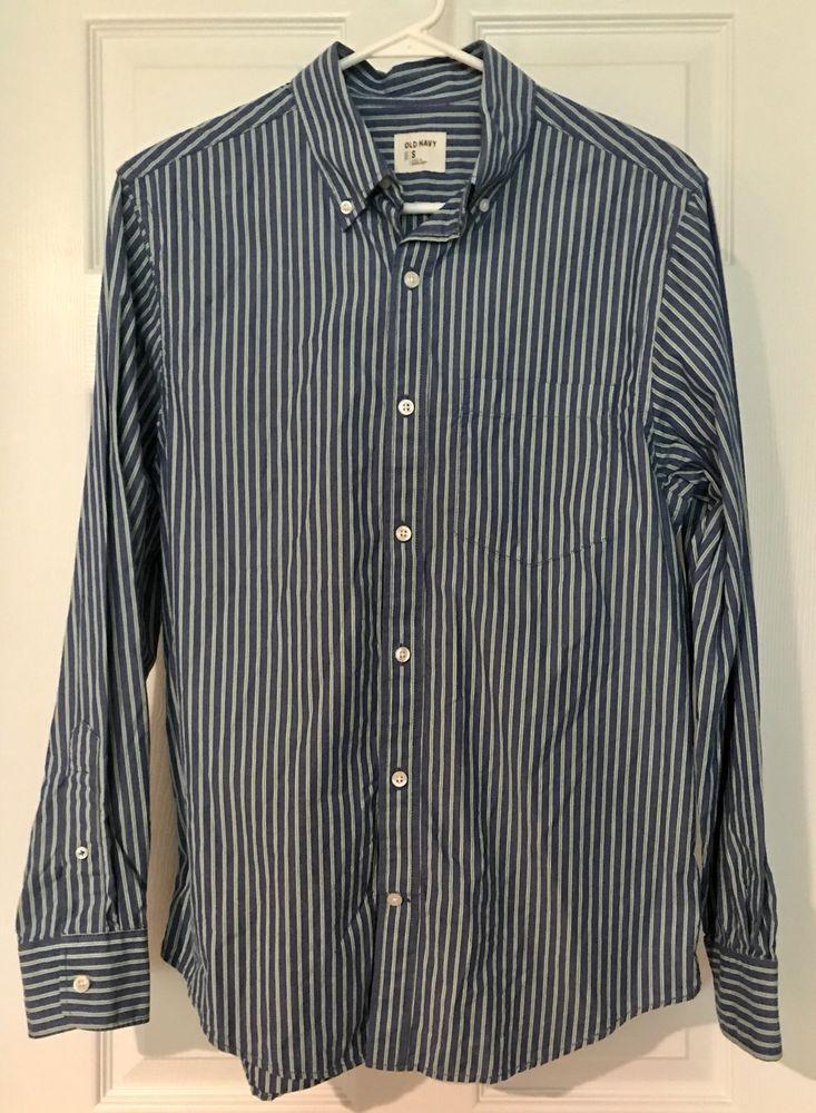 Old Navy Men's Buttondown Long Sleeve Shirt Size S Blue w
