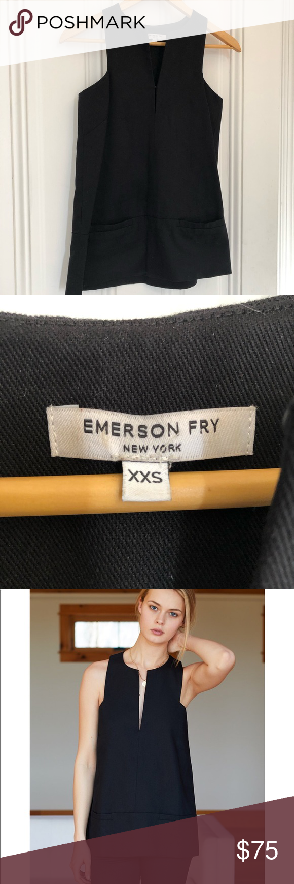 Emerson Fry A-like mod top Emerson Fry A line mod top with front welt pockets Emerson Fry Tops Tank Tops #emersonfry Emerson Fry A-like mod top Emerson Fry A line mod top with front welt pockets Emerson Fry Tops Tank Tops #emersonfry