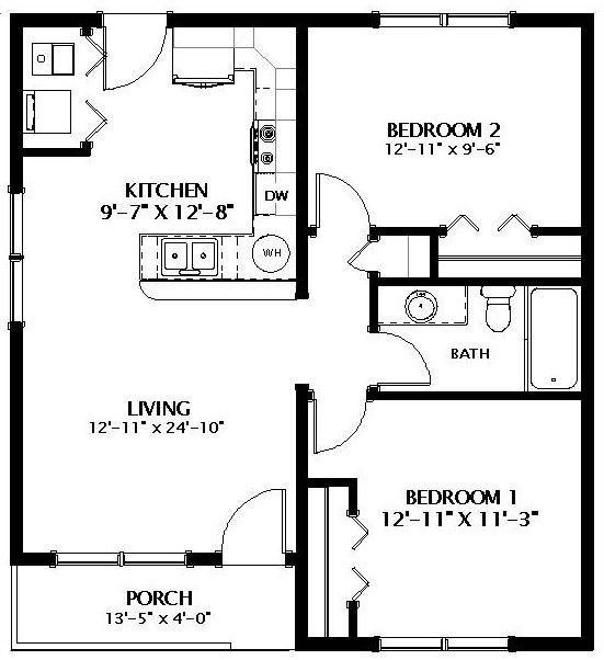 Craftsman Bungalow Modular Home Floor Plan In 2020