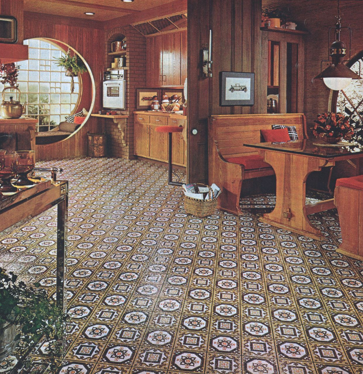 This is the flooring in my kitchen in my 1976 Marlette