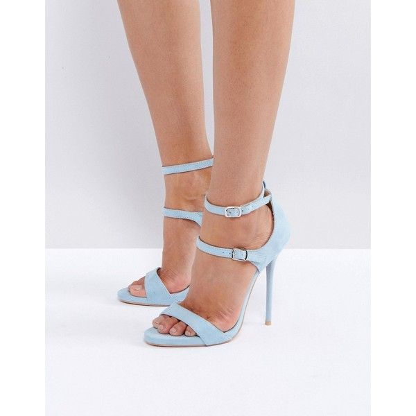 Harrie Black Padded Metal Detail Flat Strappy Sandals