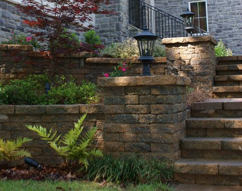 residential retaining wall ideas | Accent to finish your ...