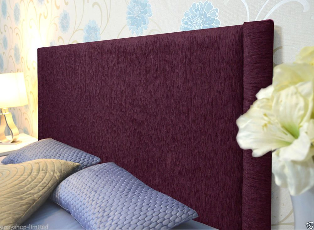 Stylish VERTICAL RIB Chenille Fabric Upholstered Headboards Queen Size Bed Home