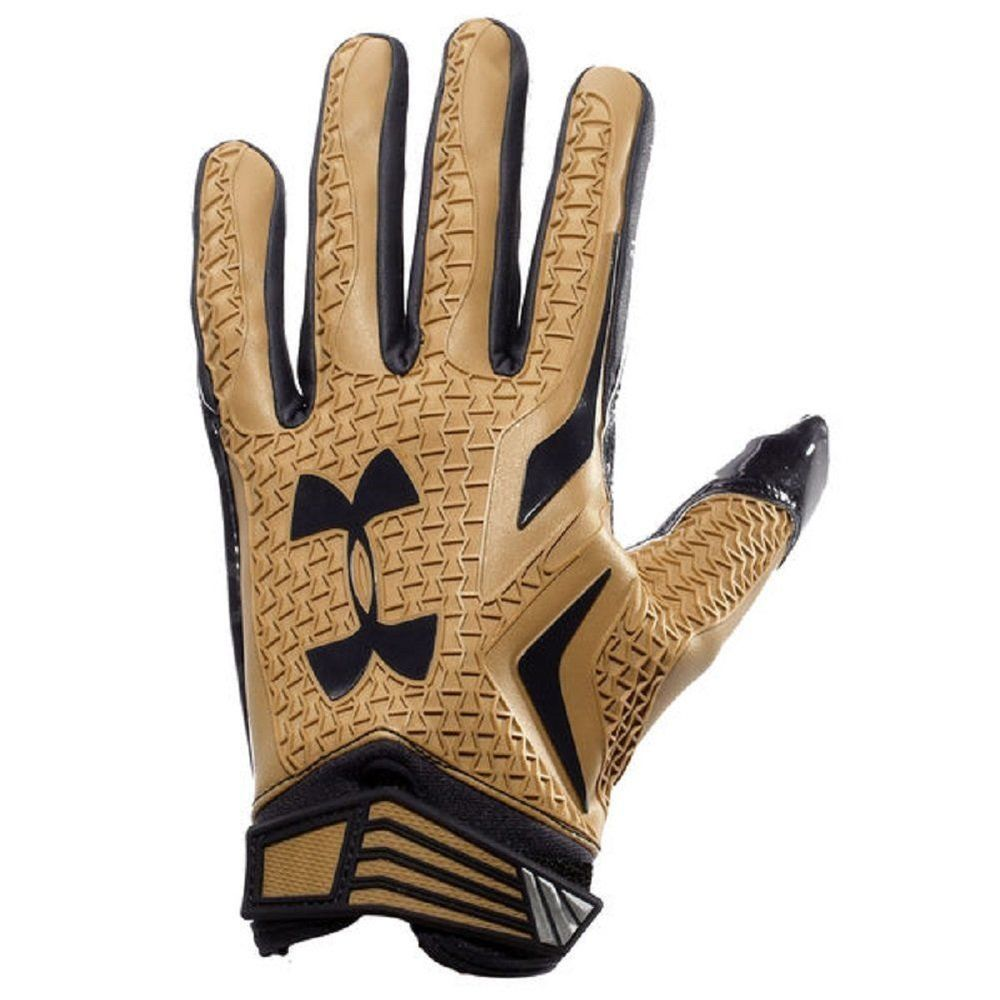 New under armour swarm football gloves size xxl mens gold