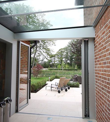 This Is The Open View Of The Aluminium Bifold Doors By Hedgehog Aluminium Systems Bifold Doors Aluminium Windows And Doors Home Porch