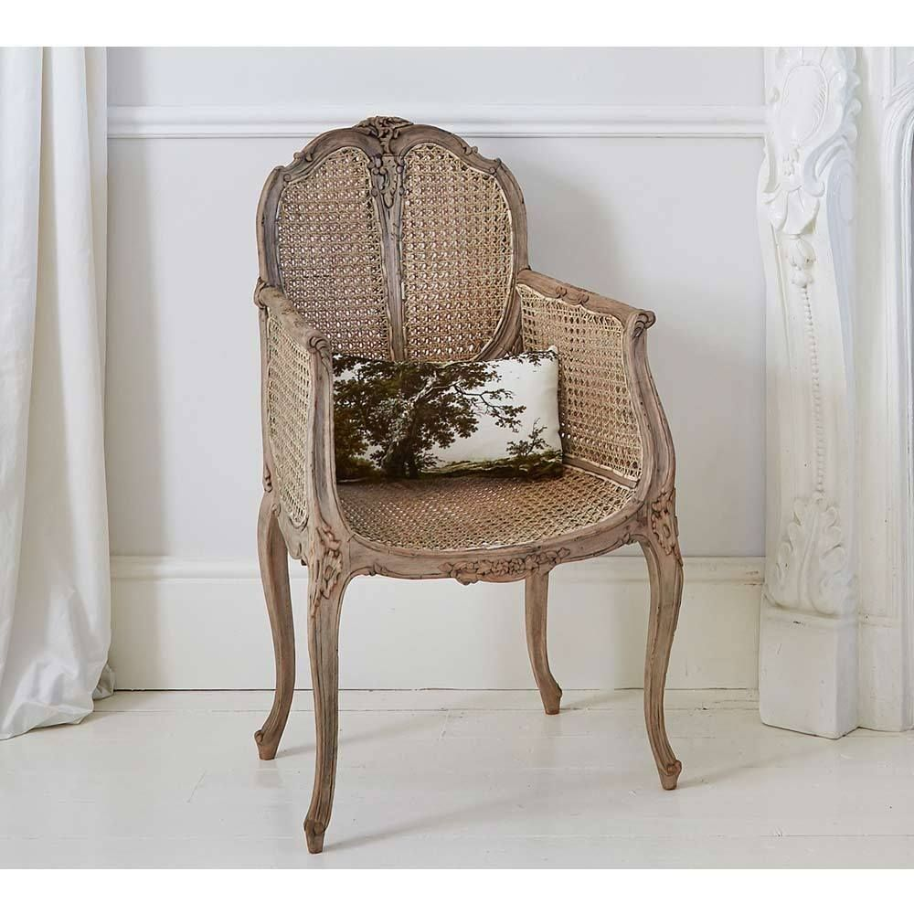 Chateauneuf Rustic Rattan Chair French Bedroom Chair Chairs
