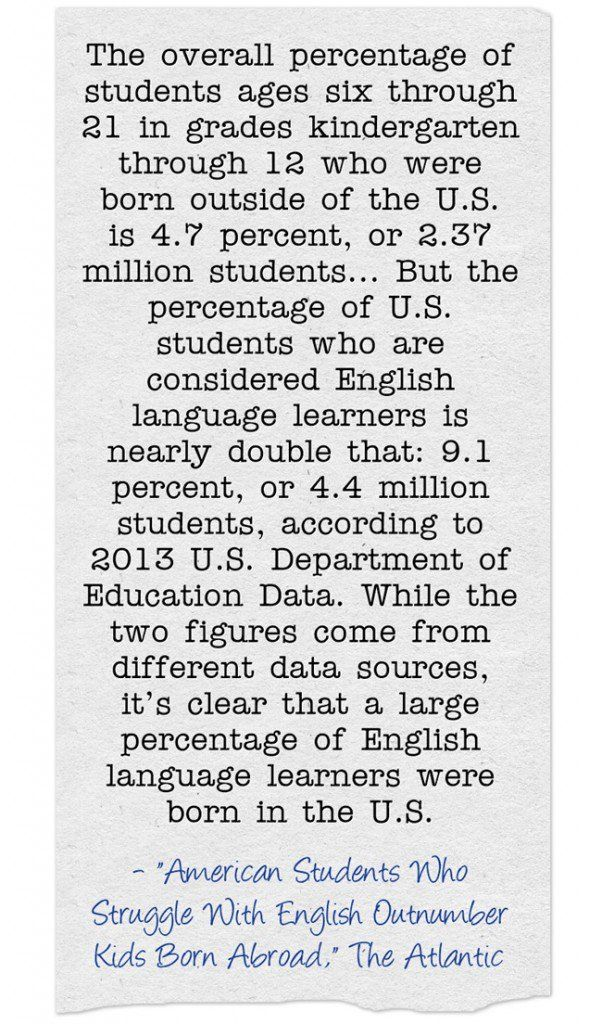 Statistic Of The Day: English Language Learners In The United States