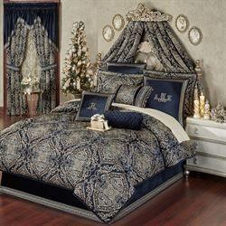 Photo of Virtuoso Midnight Damask Comforter Bedding