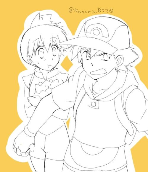 Ash protecting Misty ^_^ ^.^ ♡