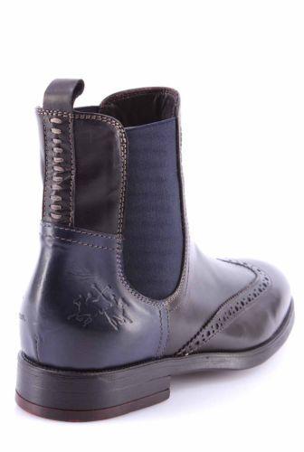 online store 7502a b3972 Chelsea Boots von La Martina Schwarz-Blau mit Budapester ...