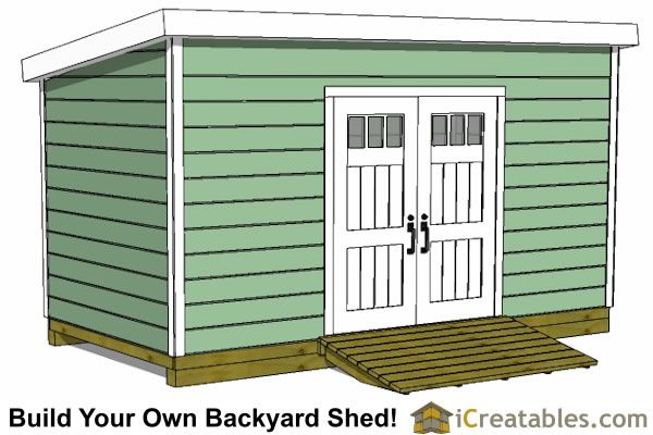 8x16 lean to shed plans doors on tall wall | Sheds in 2019