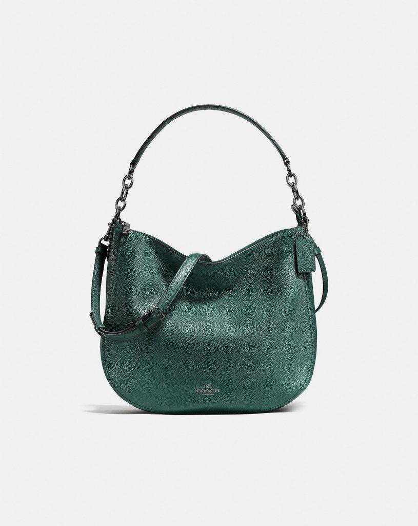 Coach chelsea hobo handbag in dark turquoise green for fall jpg 815x1024 Coach  hobo handbag green 8bb4c1745d