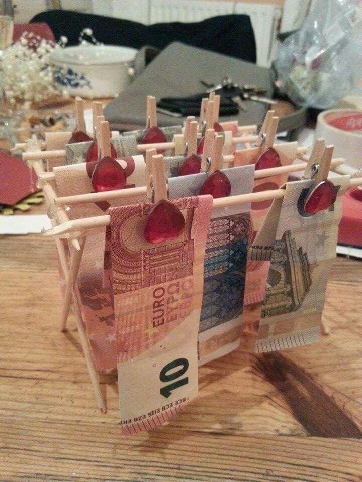 einfache geldgeschenke basteln