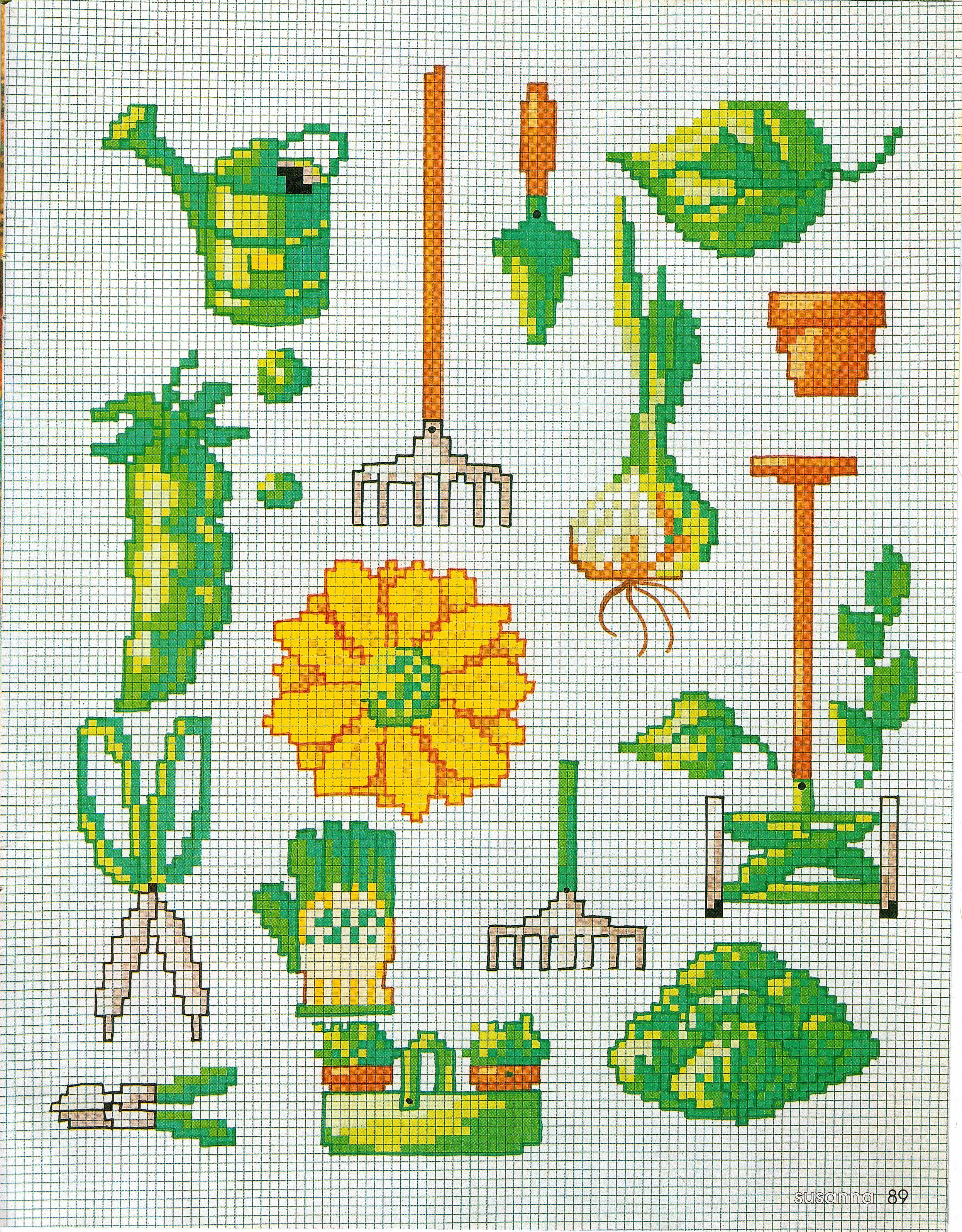 Garden motifs home and garden cross stitch patterns pinterest