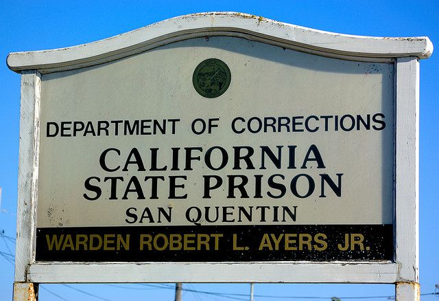 San Quentin State Prison sign | US states in 2019 | Prison ... on san quentin ca map, california state prison map, northern california map,