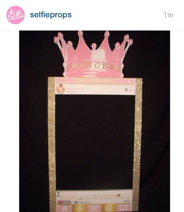 princess instagram frame it s a girl instagram frame