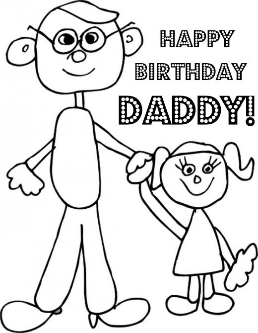 Happy Birthday Dad Free Birthday Greetings Cards Messages Fathers Day Coloring Page Coloring Pages Happy Birthday Daddy