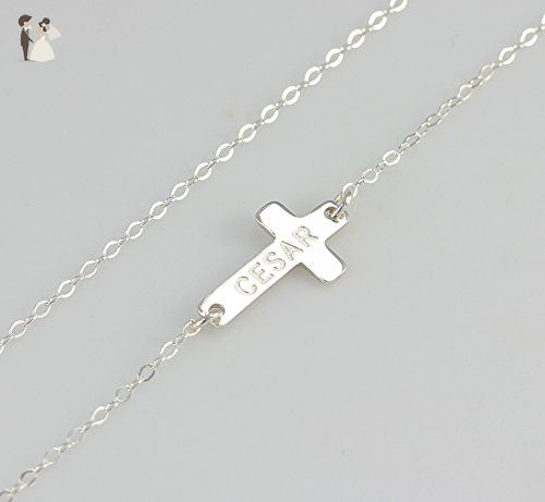 Engraved name sideways cross necklace personalized small cross engraved name sideways cross necklace personalized small cross pendant necklace nameplate necklace 14k gold fill 925 silver or 14k rose gold fill aloadofball Gallery