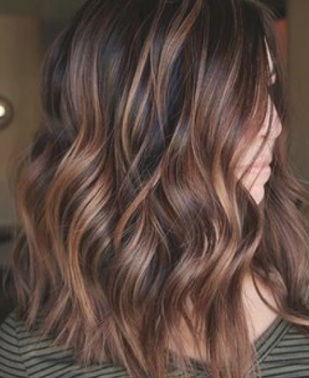 60 Hairstyles Featuring Dark Brown Hair With Highlights Chocolate Copper Balayage In 2020 Brown Hair With Highlights Black Hair With Highlights Fall Hair Color Trends