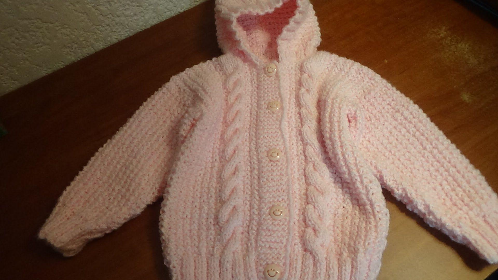697a3459fd Sueter con gorro para bebé talla 18 meses, parte 3, mangas ...
