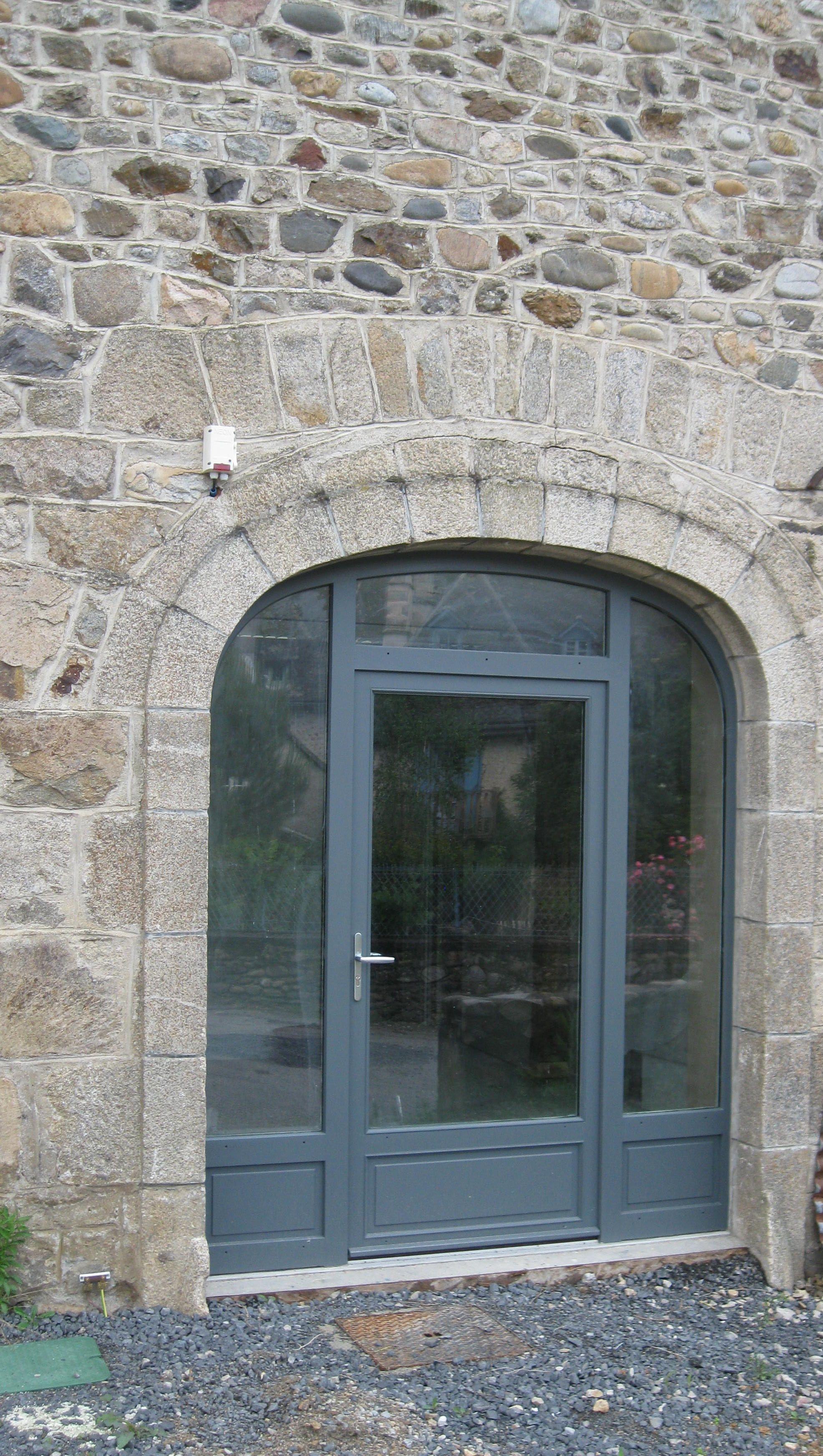 Porte Fenêtre 1 Vantail Avec 2 Fixes Latéraux Imposte Portes