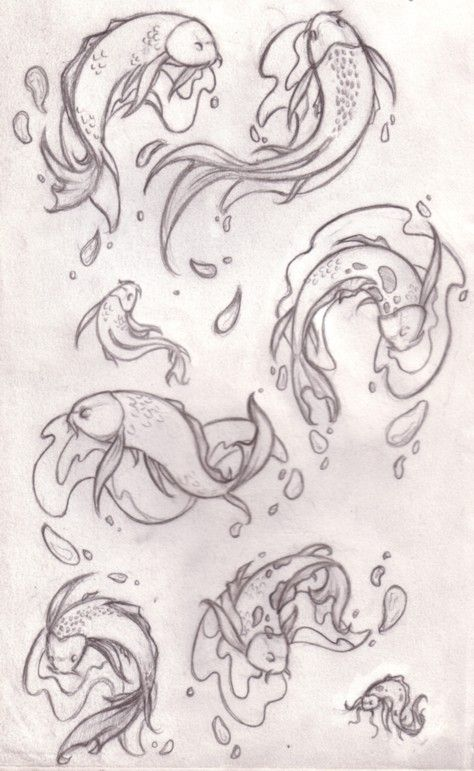 Japanese koi fish drawings koi by japanese koi fish for Koi fish pond drawing