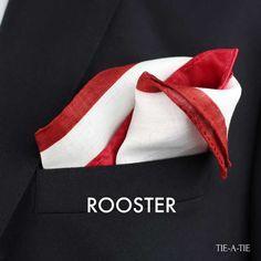 Rooster Pocket Square Fold